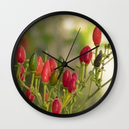 hot chili peppers II Wall Clock