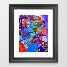 What Did You See in the Museum? Framed Art Print
