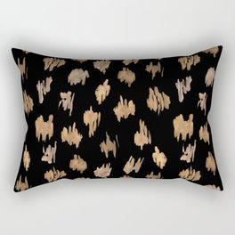 Strokes of brown paint Rectangular Pillow