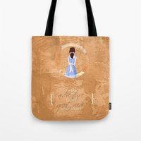 belle Tote Bags featuring Belle by Camilla Kipp