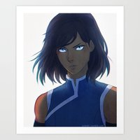 the legend of korra Art Prints featuring Korra by Nymre