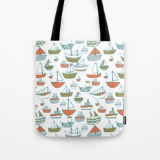 Hey Little Boat Tote Bag