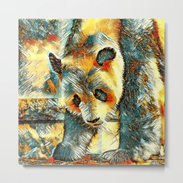 AnimalArt_Panda_20170706_by_JAMColorsSpecial Metal Print
