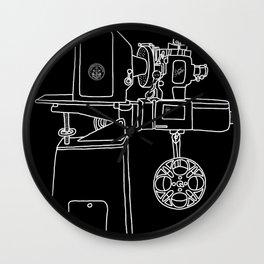 Reel Projectionist Wall Clock