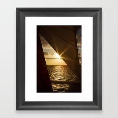 Sunset from the boat Framed Art Print