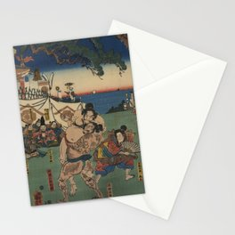 A game of Sumo Wrestling. Stationery Cards