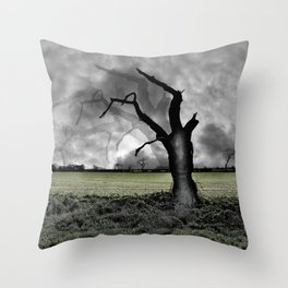 Solitude - an illustrated poem Throw Pillow