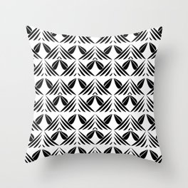 boats on the sea Throw Pillow