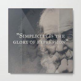 Walt Whitman - Simplicity Metal Print