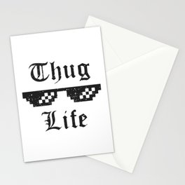 Thug life glasses print Stationery Cards