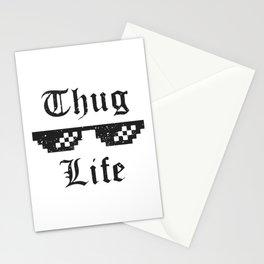Thug life glasses print Stationery Cards