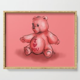 Pink Teddy Bear Serving Tray