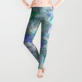 Blue And Green Abstract Leggings