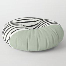 Sage Green x Stripes Floor Pillow