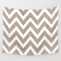coco Wall Tapestries featuring coco chevron by her art