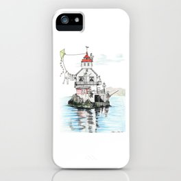Stabben Lighthouse in Norway iPhone Case