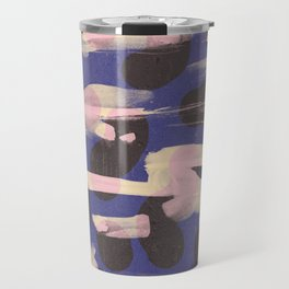 Paint Marks Camo Abstract Pattern Travel Mug