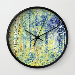 Birches I Wall Clock