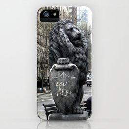 Lou Reed Lion iPhone Case