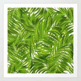 Tropical Palms Pattern Art Print