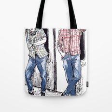 Urban Lumberjacks by Kat Mills Tote Bag