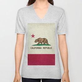 California Republic Flag Unisex V-Neck