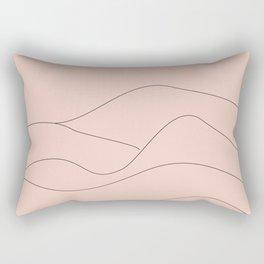 Pink Mountains Minimal Rectangular Pillow