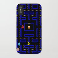 pacman iPhone & iPod Cases featuring Pacman by Dano77