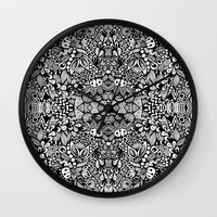 zentangle Wall Clocks featuring Zentangle  by Zenspire Designs