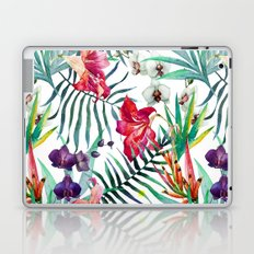 Tropical Watercolor Floral Laptop & iPad Skin