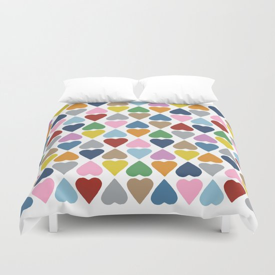 Diamond Hearts Repeat Duvet Cover