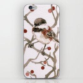 Chickadee & Berries iPhone Skin