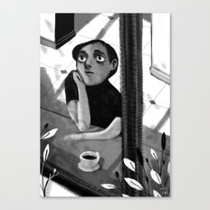 a black and white summer Canvas Print