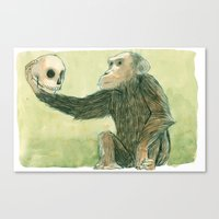 hamlet Canvas Prints featuring Hamlet by Marielle Lebrun