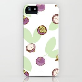 Mangosteen on white background iPhone Case
