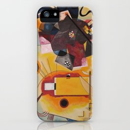 Wassily Study Repro yellow red blue 1925  iPhone Case