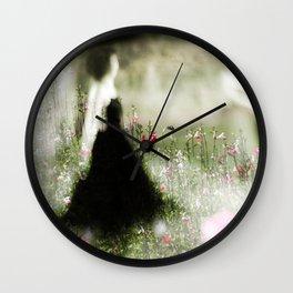 Dance in meadow 2 Wall Clock