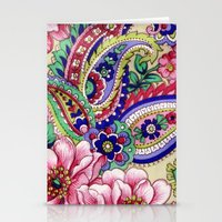 deco Stationery Cards featuring Floral Deco by Elena Indolfi