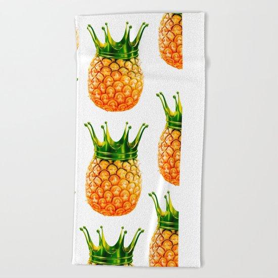 Pineapple? kingapple! Beach Towel
