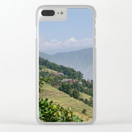 PASTORAL VIEW NEPAL FOOTHILLS Clear iPhone Case