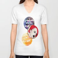 paramore V-neck T-shirts featuring Daydreamin' by Bri Benson