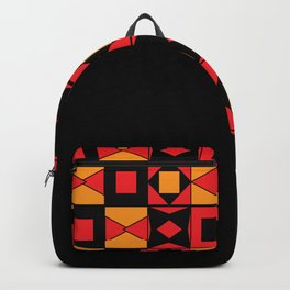 African Motif Mosaic Game Backpack
