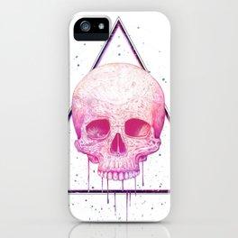 Skull in triangle iPhone Case