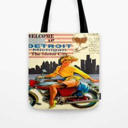 WELCOME TO DETROIT Tote Bag