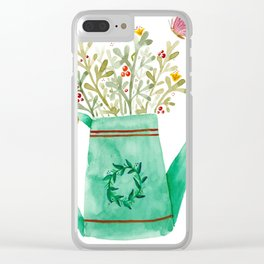 Open a Can of Flowers Clear iPhone Case