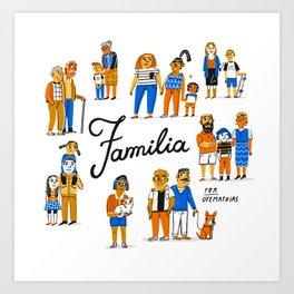 Familia Art Print