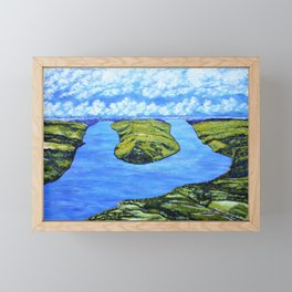 Bluff Point at Keuka Lake Framed Mini Art Print