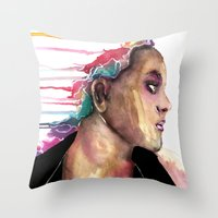 sister Throw Pillows featuring Sister by Siriusreno