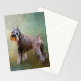 Schnauzer On Patrol Stationery Cards