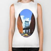 bridge Biker Tanks featuring Bridge by Brown Eyed Lady